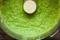 All-Purpose Summer Green Sauce: This is just a great medley of fresh summer flavors blended together. It takes just a few minutes to blend together and can be used on almost anything savory. It's great on grilled foods or even as a sturdy salad dressing. Make it and slather it on everything! | macheesmo.com