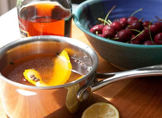Homemake cocktail cherries.