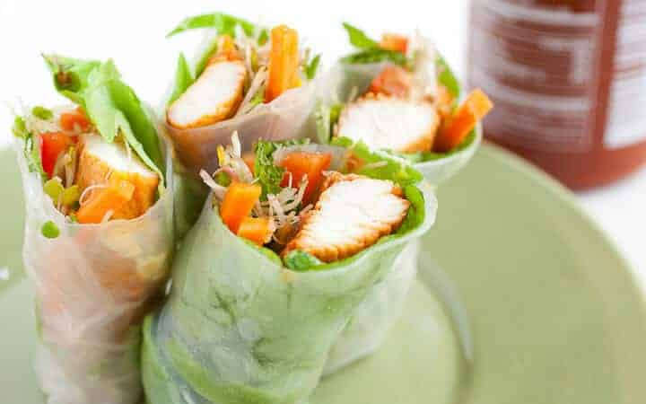 Sriracha Chicken Spring Rolls | Easy Spring Roll Recipes