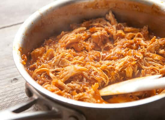 Shredded chicken for sloppy joes
