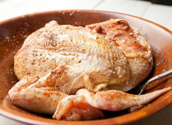 Chicken sheet pan supper.