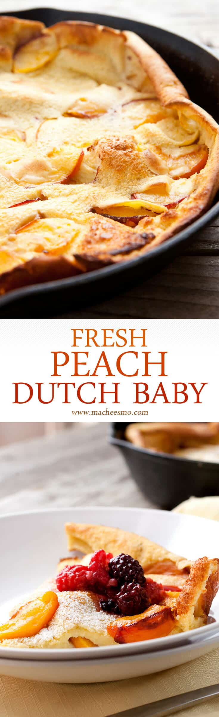 Fresh Peach Dutch Baby: In-season, perfect peaches cooked with a ...