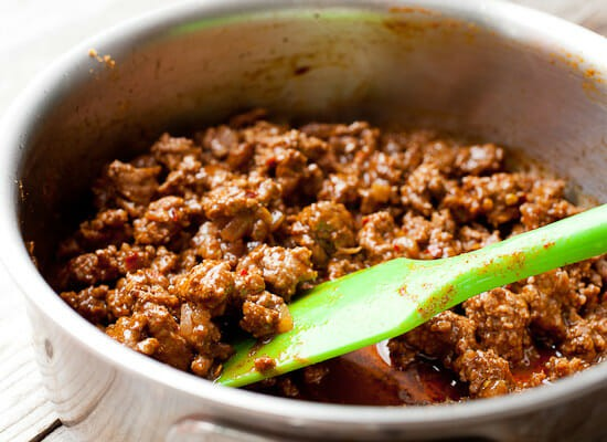 Beef filling - Fried tacos