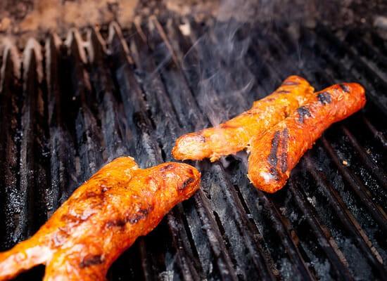 Choripan grilling