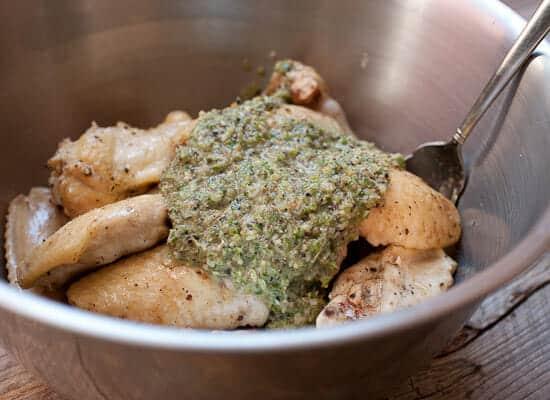 Jerk sauce chicken wings.
