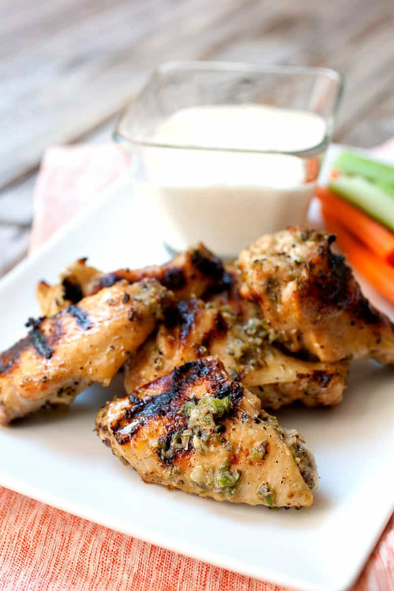 How to Grill Chicken Wings: The step-by-step best way to make fall-of-the-bone chicken wings on the grill! You can use any rub or sauce once you get the method down!