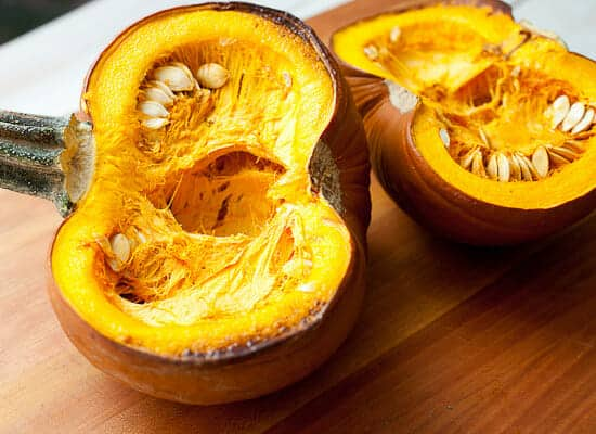 Pumpkin curry rice bowls roasted