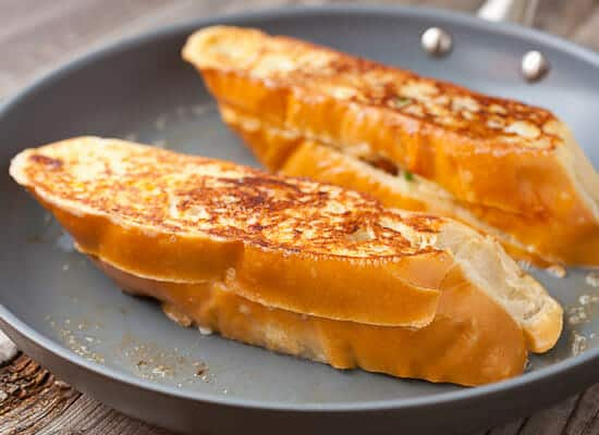 Savory Stuffed French Toast cooking