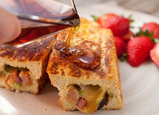 Savory Stuffed French Toast syrup.