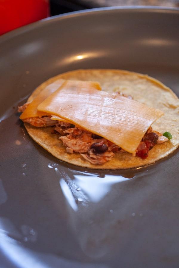 Ready to fold - Crispy Chicken Tacos