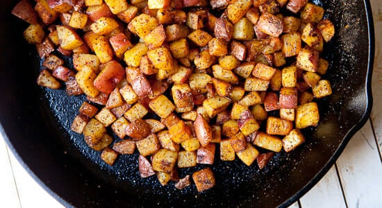 Cast Iron Skillet Recipes - Home Fries
