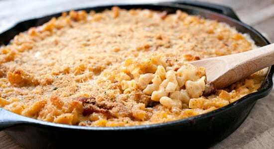 Cast Iron Skillet Recipes - mac and cheese