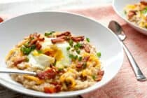 Cheesy Bacon Savory Oatmeal