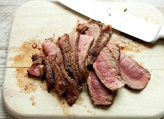Cheesesteak flatbreads steak