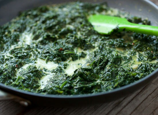 Creamed Spinach Breakfast Bowls