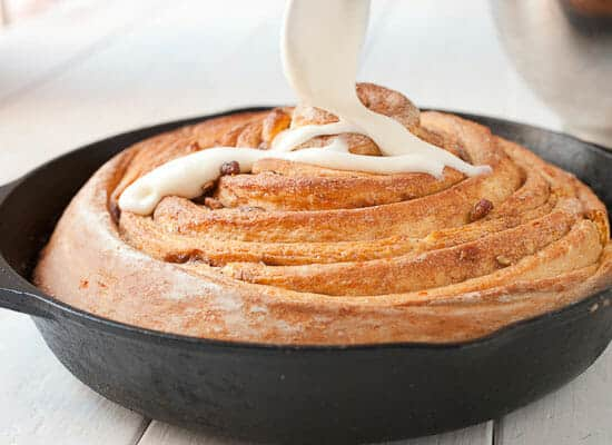Giant Sweet Potato Cinnamon Roll