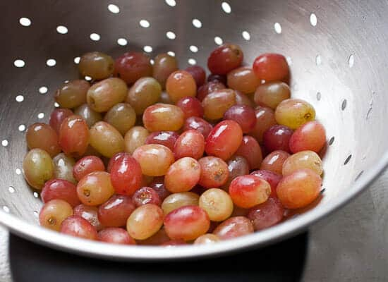 Roasted Grapes with Whipped Goat Cheese