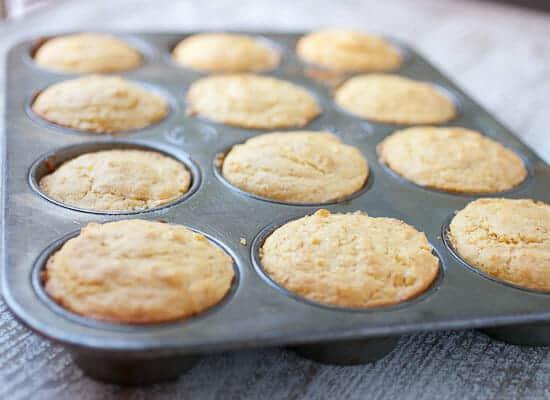 Cheddar Stuffed Corn Muffins