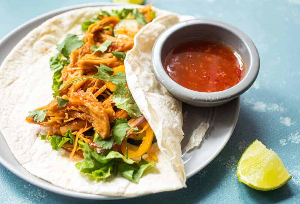 Sweet Chili Chicken Wraps