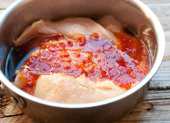 Cooking the Sweet Chili Chicken