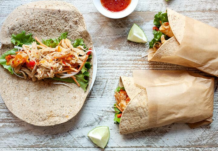 Sweet Chili Chicken Wraps With Lime Macheesmo