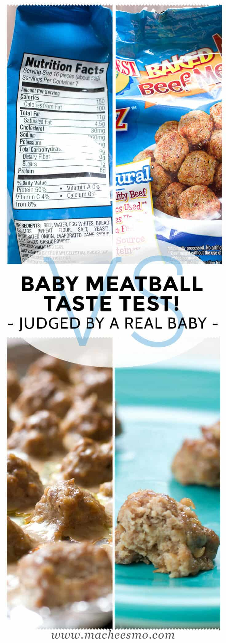 A Baby Meatball Taste Test: My little guy is a big fan of frozen meatballs, but they look simple enough to make at home. Can my homemade version beat his favorite store-bought variety? Only one way to find out! | macheesmo.com
