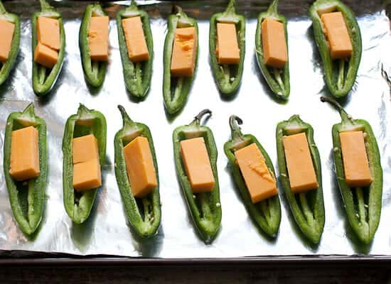 Jalapeño Poppers in the oven