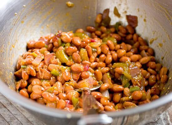 Chunky Tomatillo Tostadas