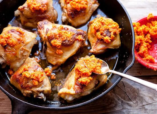 3 Ingredient Kimchi Chicken Thighs