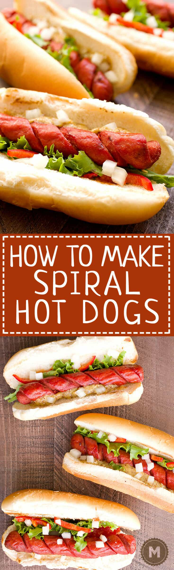 How to Make Spiral Hot Dogs: You are one quick tip away from completely changing your grilling game this year. This fast prep takes your average hot dog to a whole new level. They get crispy and perfect for lazy day grilling. Learn how to do it right! | macheesmo.com