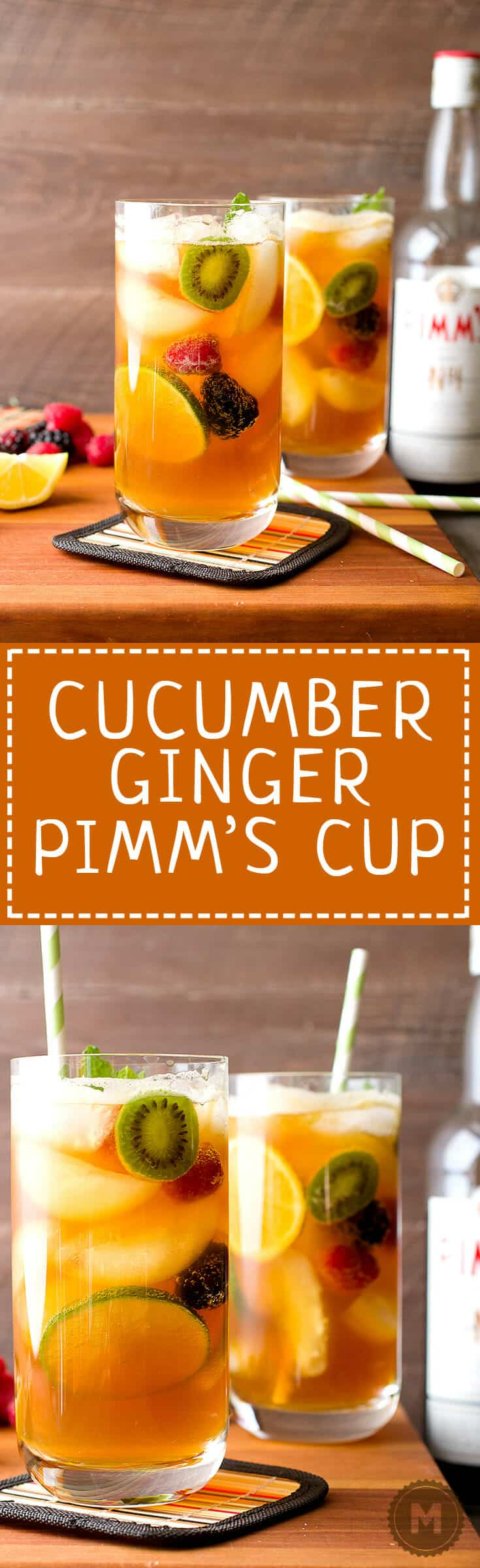 Cucumber Ginger Pimm's Cup: This is my official drink of summer. Light, fruity, refreshing, and just a few ingredients. Make a few of these and life is good!   macheesmo.com