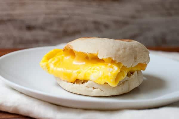 American Cheese Breakfast Sandwich