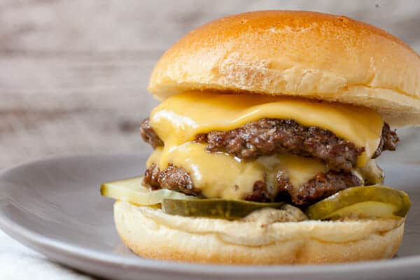 American Cheese Cheeseburger