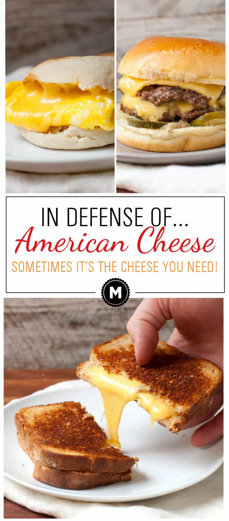 In Defense of American Cheese: It has a bad reputation, but sometimes American cheese is exactly the cheese you want. When it comes to a few key recipes, I'll choose it over fancy, expensive cheese any day of the week. I'ts gooey meltiness is unrivaled! WHO'S WITH ME?!   macheesmo.com