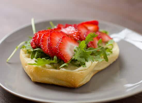Strawberry Breakfast Sandwich