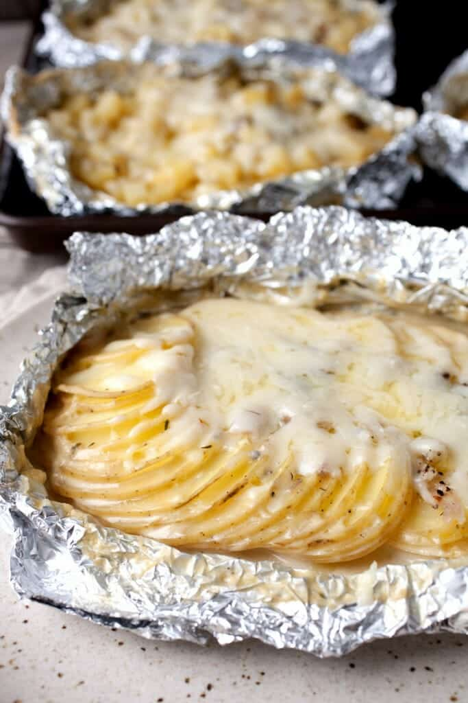 Potatoes Au Gratin Foil Packet Recipe | Quick And Easy Foil Packet Recipes For Tasty Instant Meals | chicken and vegetable foil packets oven