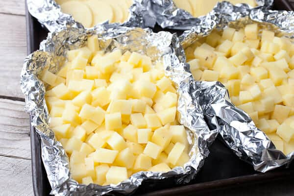 Potatoes Au Gratin Foil Packets