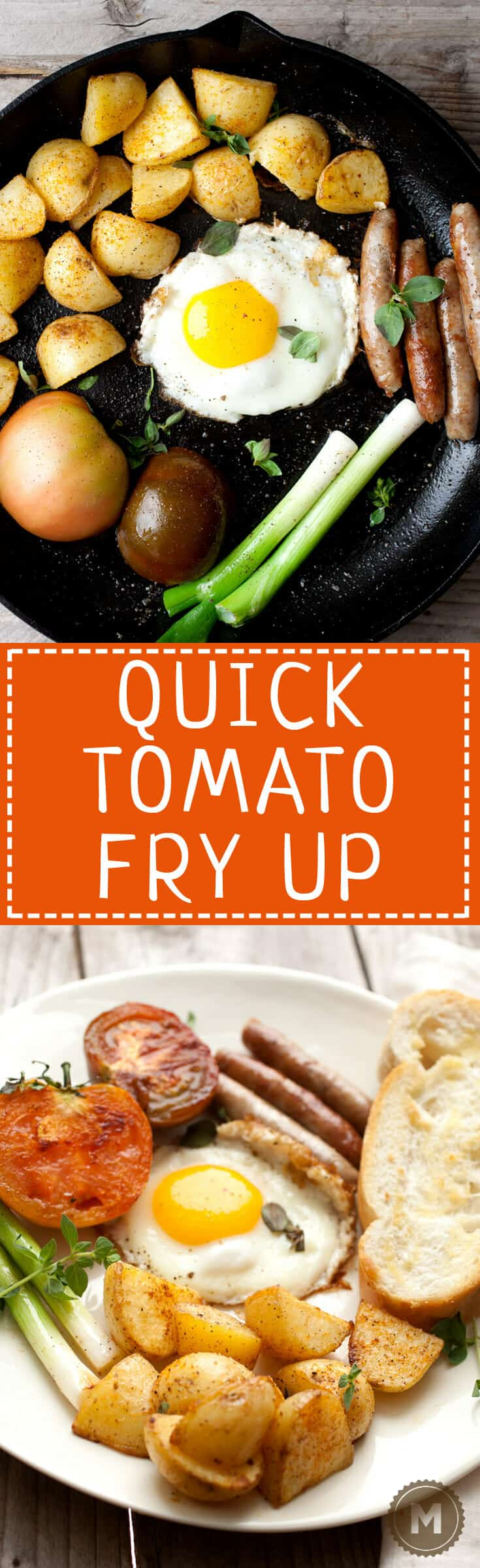 Quick Tomato Fry Up: This is the season when tomatoes are at their best. Make this quick tomato fry up based on the English full breakfast minus a few things and plus a few others! Great way to start the day! | macheesmo.com