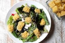 Ramen Croutons: Say hello to your new favorite salad topper. These perfectly seasoned, crispy cubes of ramen are so much fun and will definitely add some fun to your salads! | macheesmo.com