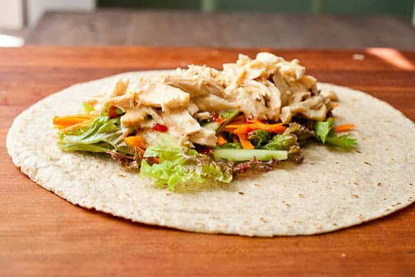 Spicy Coconut Chicken Wraps