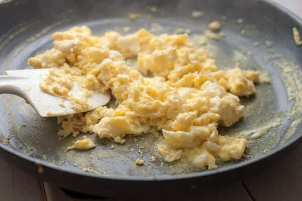 Make Ahead Breakfast Burritos scrambled
