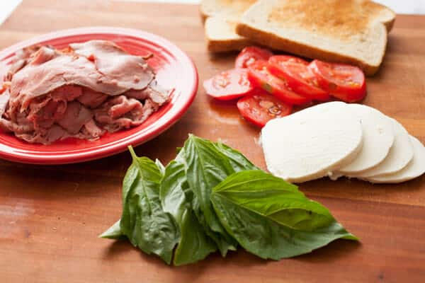 Roast Beef Caprese Sandwich