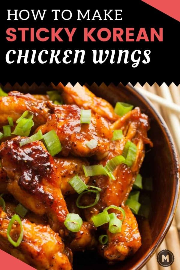 Sticky Korean Chicken Wings
