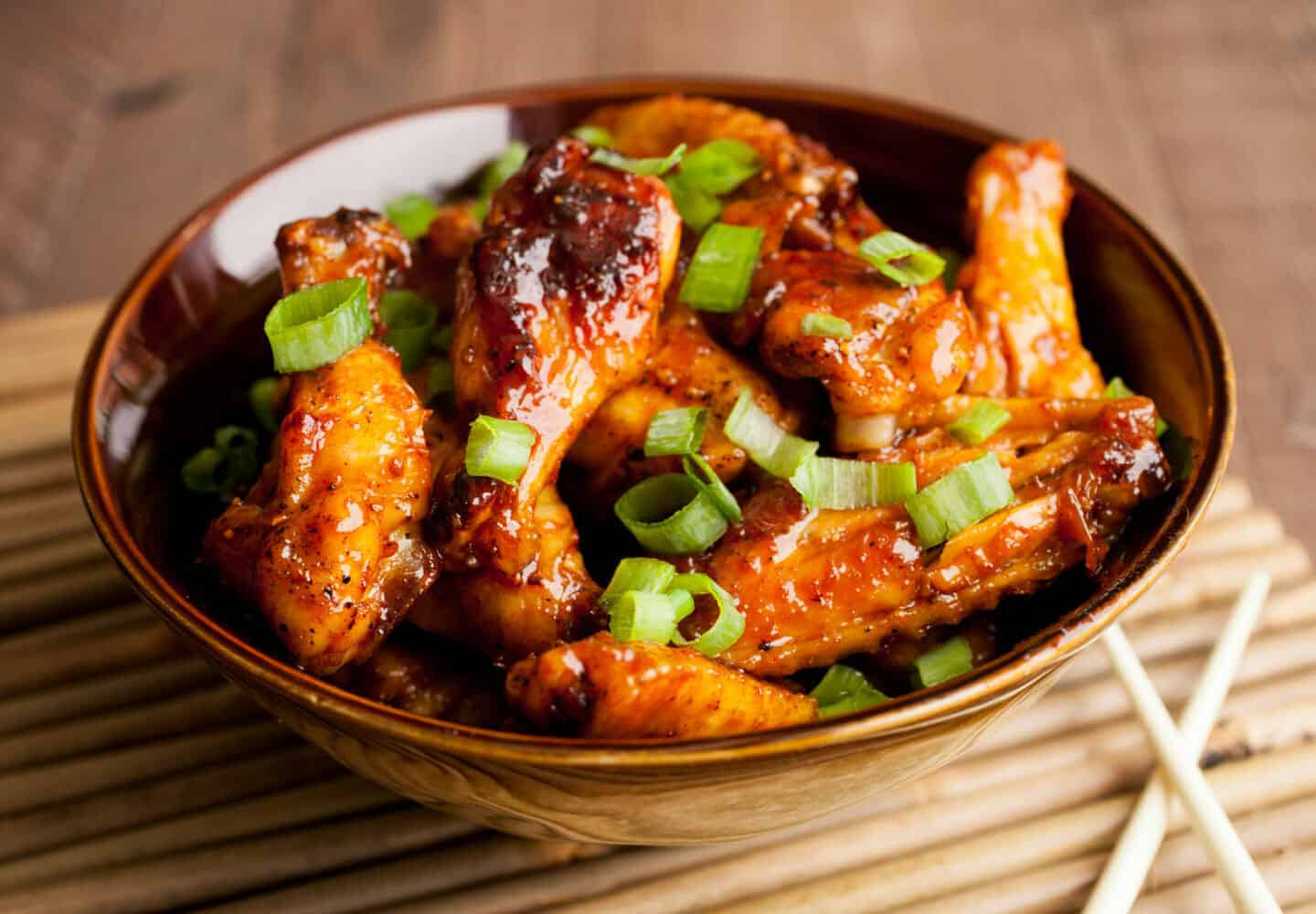 Sweet Korean Chicken Wings - Game Day Appetizer ~ Macheesmo