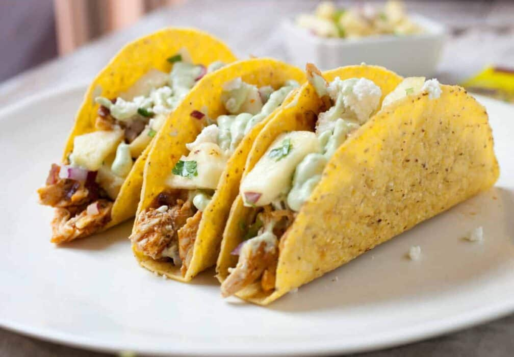 Spicy Pineapple Chicken Tacos