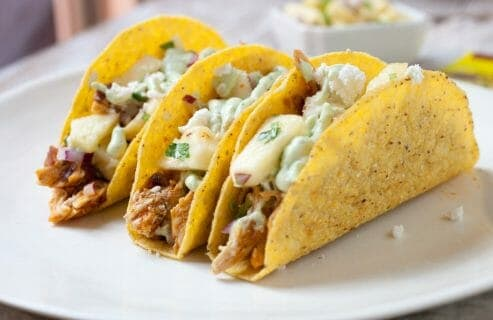 Spicy Chicken Pineapple Tacos: These easy weeknight chicken tacos are jam-packed with flavor and topped with a quick and zesty spicy pineapple salsa. Say goodbye to boring tacos!   macheesmo.com