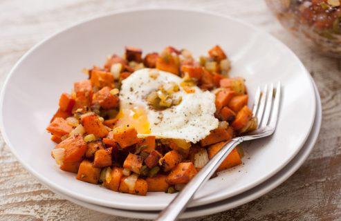 Sweet Potato Hatch Chile Hash