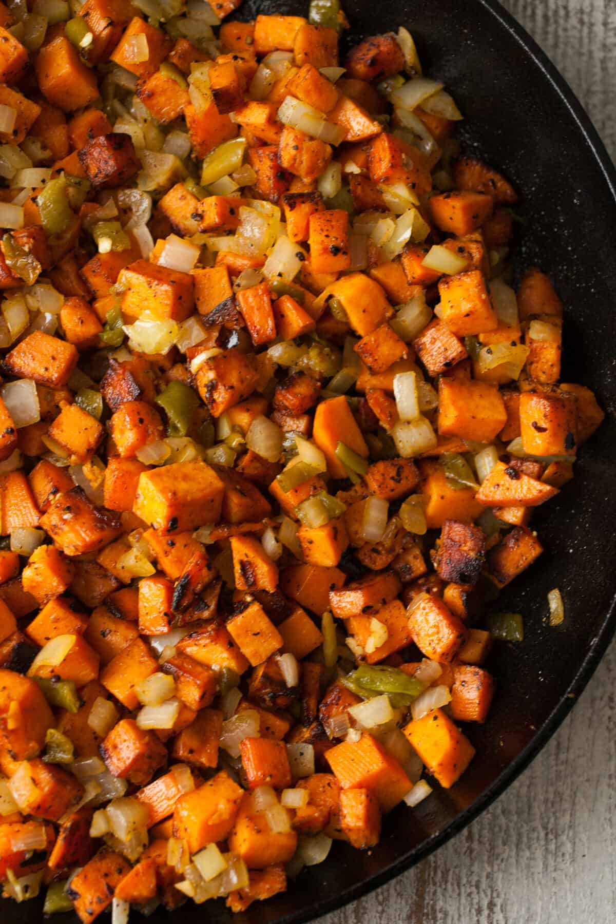 Sweet Potato Hatch Chile Hash