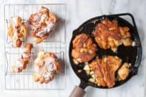Cast Iron Homemade Apple Fritters: Soft homemade donut dough folded with apples and spices and fried in a cast iron skillet for a crispy exterior crust. Comfort food at its best. | macheesmo.com