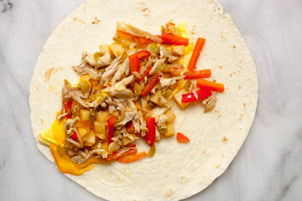 Rotisserie Chicken Breakfast Burritos
